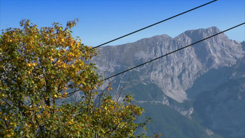 ropeway crossing high alp close Stock Video Footage
