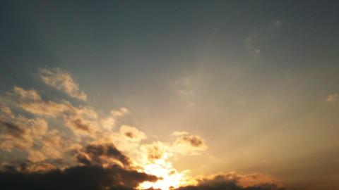 Eveningsky HD01 mov 夕空動画素材 ビデオ