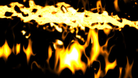 Fire multiple explosion background Stock Video Footage