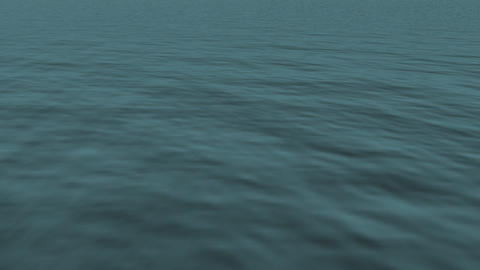 loopable realistic FullHd 3d sea / ocean / lake Stock Video Footage