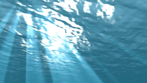 loopable underwater with light rays Stock Video Footage