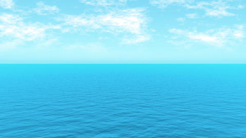 Loopable FullHd 3d sea Stock Video Footage