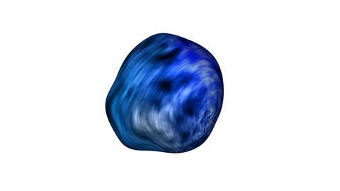 Loopable 3d moving sphere look like chewing gum with alpha Stock Video Footage