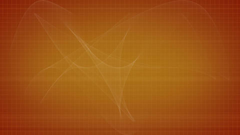 Orange background with a flying object Stock Video Footage