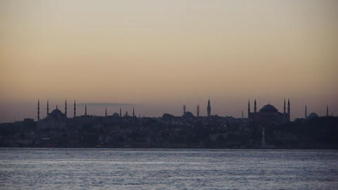 Hagia Sophia and Blue Mosque Stock Video Footage