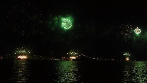 Firework over sea Stock Video Footage