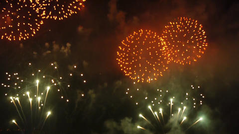 Fireworks at night Stock Video Footage
