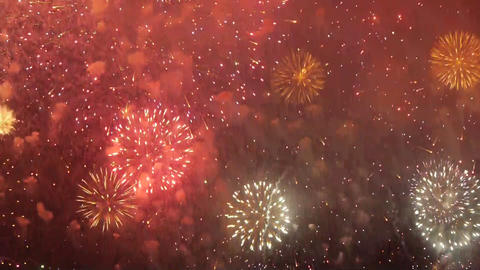 Fireworks over sea Stock Video Footage