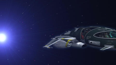 Space Ship in Hyper Space 2 Animation