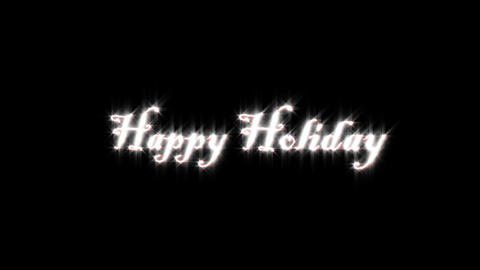 Title of holiday Animation