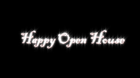 Title of happy open house Animation