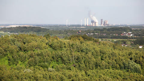 Power station seen from a hill Live Action