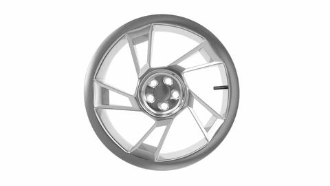 Car alloy rim Animation