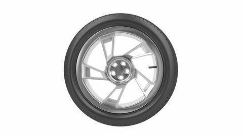 Car wheel Animation