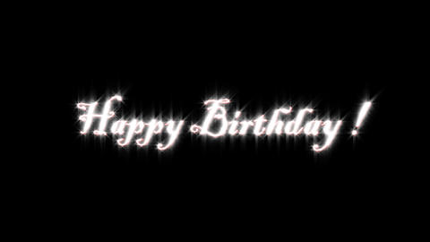 Title of happy birthday Animation