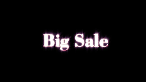 Title of big sale Animation