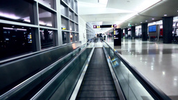 Moving walkway at the airport Footage