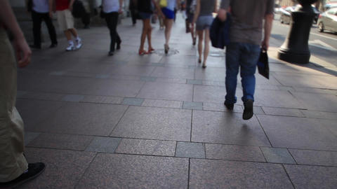 walk through the city Footage