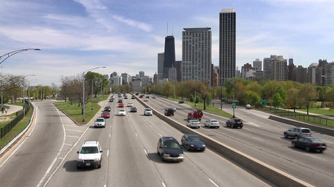 Chicago's Lake Shore Drive stock footage