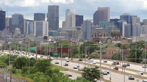 City Skyline and Traffic Footage