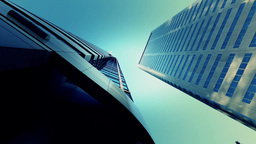 view up of skyscrapers Footage