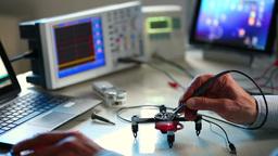 Adjusting quadrocopter Footage
