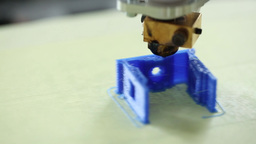 Printing plastic model with Plastic Wire Filament  Footage