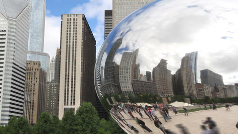 Chicago Reflection Time Lapse Footage