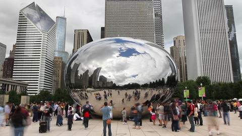 Cloud Gate Time Lapse stock footage