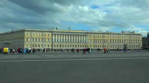 The General staff on Palace square. Saint-Petersbu Footage