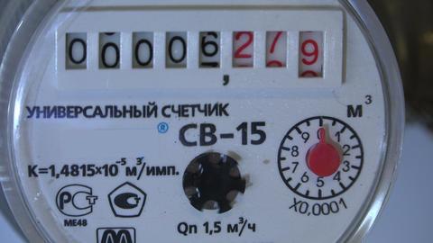 The water meter. 4K Footage