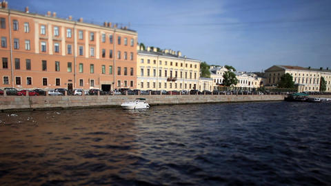 view of the Fontanka River in St. Petersburg Footage