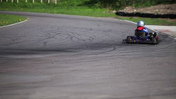 Go-kart in a curve Live Action