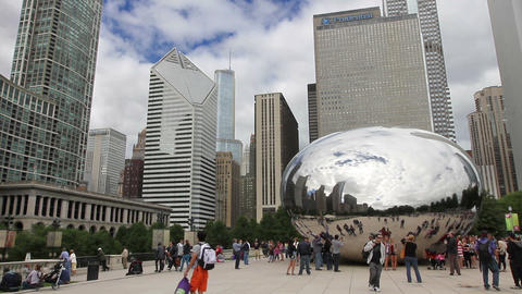 Millennium Park In Chicago stock footage