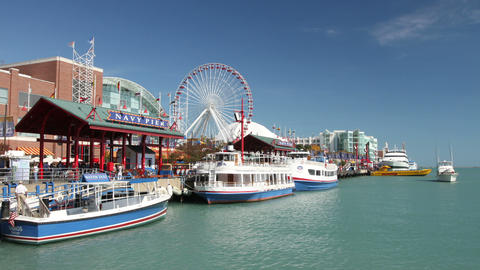 Navy Pier Time Lapse Footage