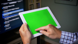 iPad with Green Screen Footage