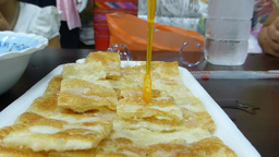 Roti Gluay, A Favourite Street Food In Chiangmai,  stock footage