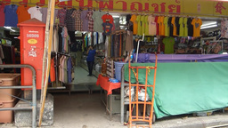A row of shops at Chinatown of Chiang Mai, Thailan Footage