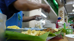 Thai Style Kway Chap Stall In Chiangmai, Thailand. stock footage