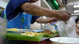 Thai style kway chap stall in Chiangmai, Thailand. Footage