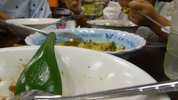 Eating a bowl of Khao Soi (rice noodle) in North T Footage