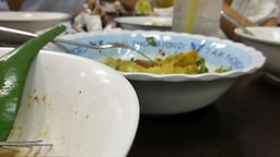 eating chicken Khao Soi (egg noodles), Chiangmai,  Footage
