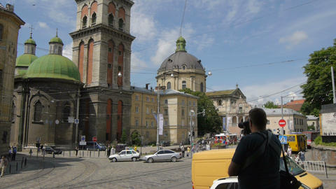 Ukraine, L'viv city .Timelapse. May 28, 2014 Footage