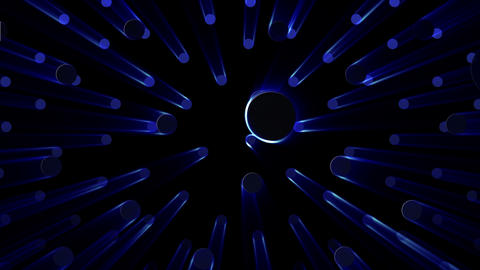 Simple background Circle S neon 4k Animation