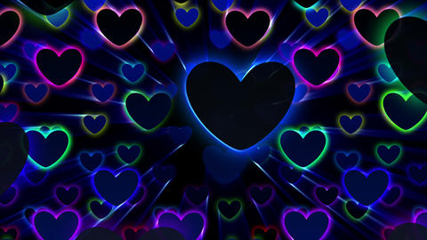 Simple background Heart L neon 4k Animation