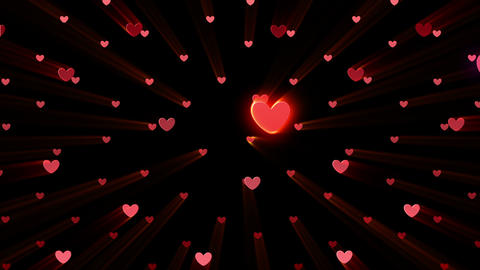 Simple background Heart S neon 4k Animation