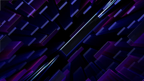 Simple background Rectan L neon 4k Animation