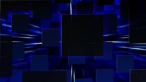 Simple background Square L neon 4k Animation