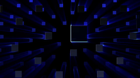 Simple background Square S neon 4k Animation