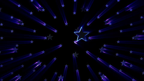 Simple background Star S neon 4k Animation